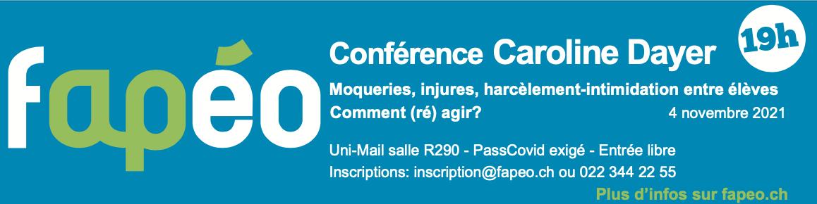 Conférence: «Moqueries, injures, harcèlement…